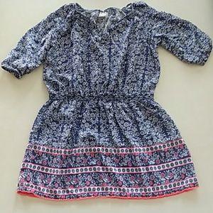 OshKosh b'gosh size 7 blue floral boho dress